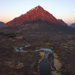 Image for the Tweet beginning: Catching first light on #Glencoe