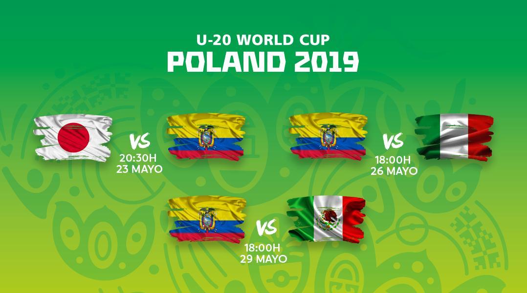 ¡El calendario del Tri 🇪🇨! No te pierdas los partidos del campeón sudamericano en el Mundial Sub-20. #U20WC