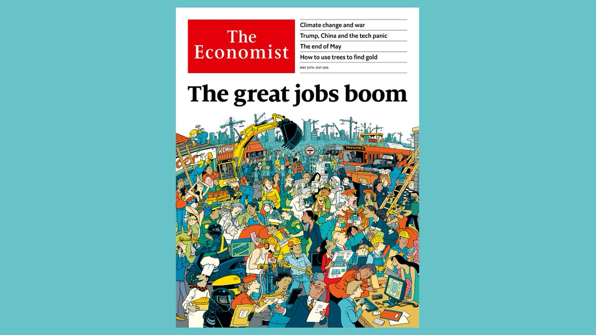 The rich world is enjoying an unprecedented jobs boom. Capitalism's critics have missed it. Our cover this week https://econ.st/2VWTcJx