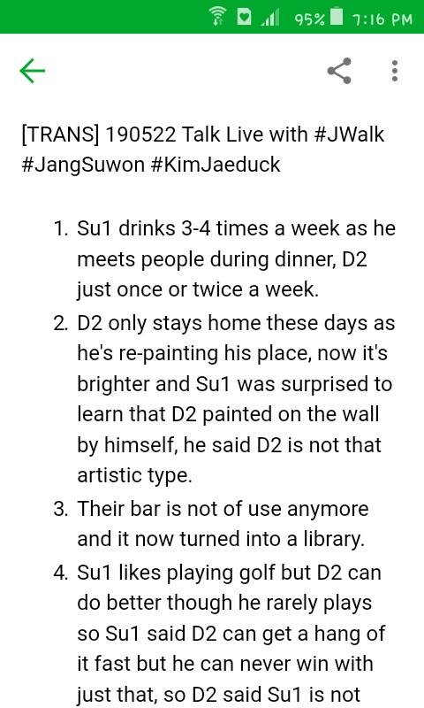 [TRANS/1-4] 190522 Talk Live with #JWalk #JangSuwon #KimJaeducki wanted to do just a short recap T^T still, there's things i skipped here, fyi & plz dun mind typostrans by @amSASIPA #jekkitrans PLEASE DO NOT EDIT OR CROP#장수원 #김재덕 #제이워크 #젝스키스 #SECHSKIES