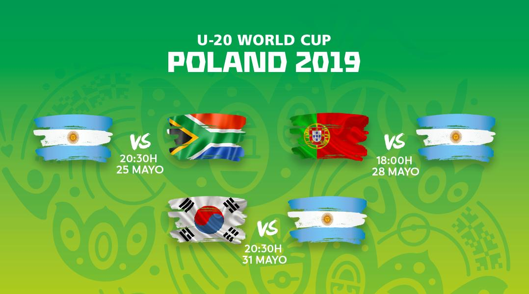 ¡Los partidos de la Albiceleste 🇦🇷 en la fase de grupos del Mundial Sub-20! #U20WC