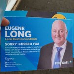 Image for the Tweet beginning: A @FineGael candidate has leaflets