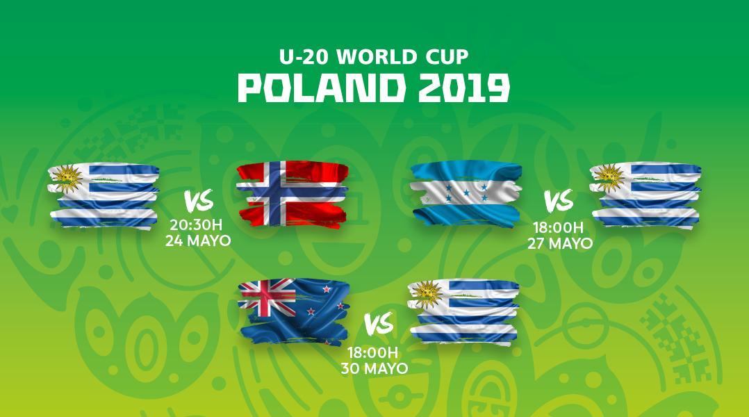 ¡Los rivales de Uruguay 🇺🇾 en la fase de grupos del Mundial Sub-20! 👊 #U20WC