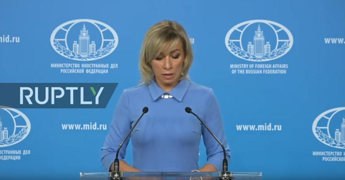 #Zakharova holds MFA weekly briefing in Moscow  LIVE:  http:// rupt.ly/tv8zu  &nbsp;  <br>http://pic.twitter.com/zsxPmdvN0F