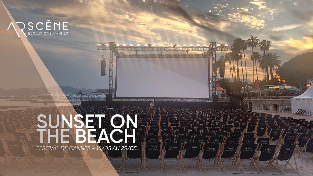 #Sunset on the #beach 🌴🌙 #Cinemadelaplage @villecannes  ! Yesterday, #screening of the  #EasyRider #movie 🏍🏍 #DennisHopper  Ce soir, #projection de #BoyzInTheHood de #JohnSingleton ! Une belle #sélection du #festivaldecannes #cannesfilmfestival #FrenchRiviera @ArSceneCannes
