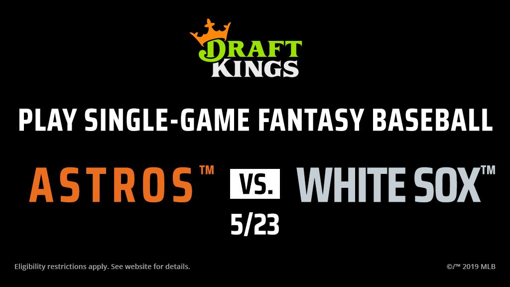 Play now! Astros vs White Sox Showdown: Single-game fantasy baseball • Draft 6 players from the game• Score points like season-long fantasy baseball• Win big cash prizeshttps://atmlb.com/2QmxMiW