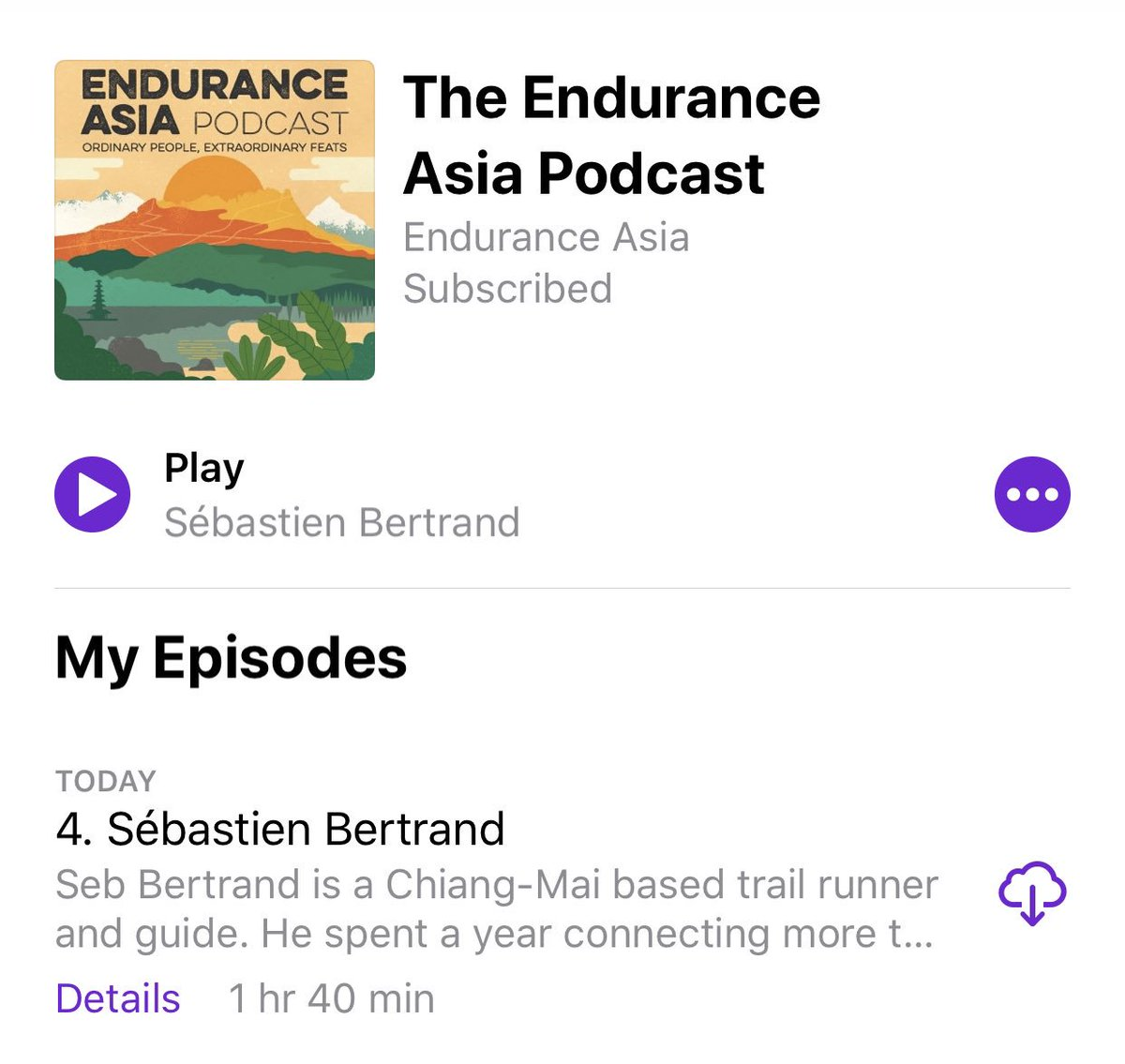 Latest podcast with Seb from Thailand Mountain Trail talking about his exploration to map out the trails of Northern Thailand 🇹🇭