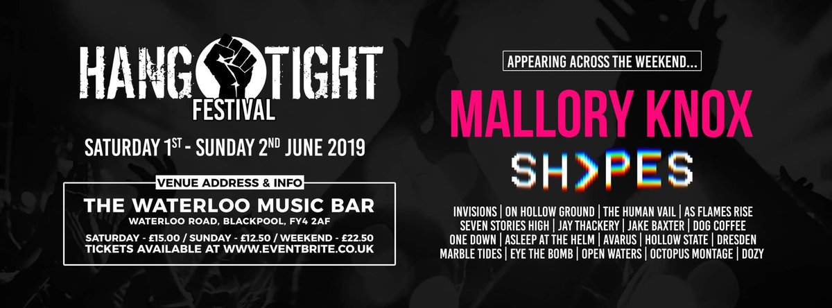 We're coming to Blackpool for the first time to headline this all-dayer. See you there 👊