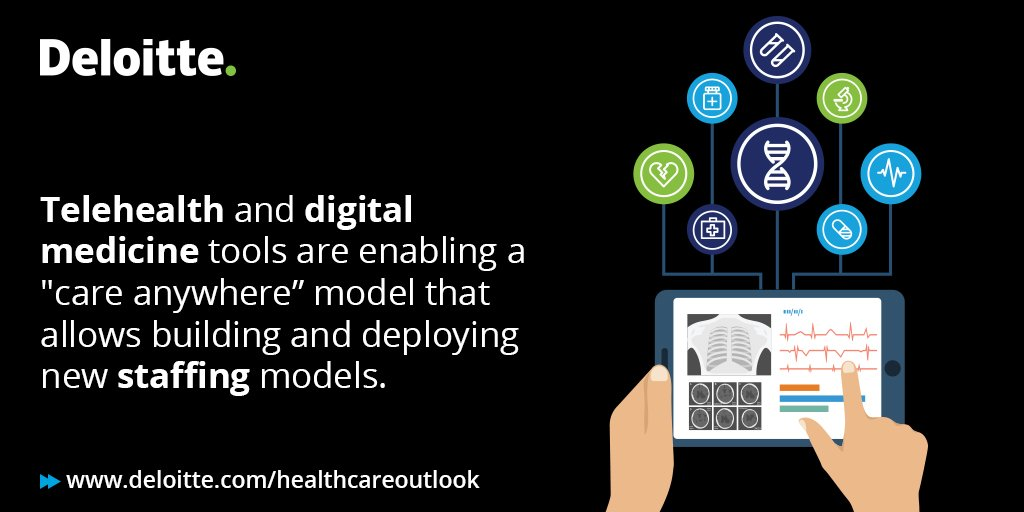 #Digitization can enable #taskshifting and role enrichment to create a sustainable and flexible #healthcare workforce. Read our 2019 sector outlook for more: https://deloi.tt/2sycJ1G