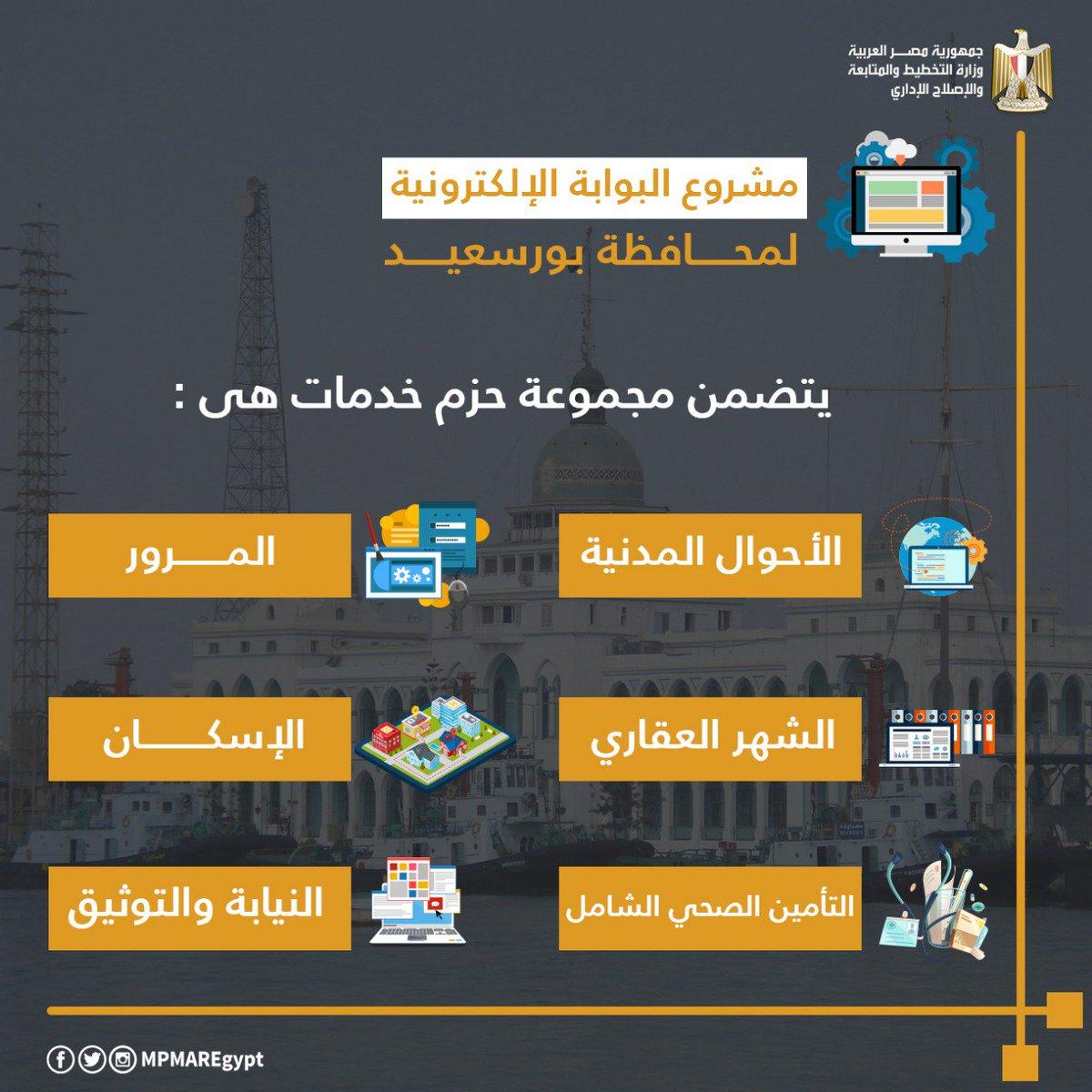 الجهود المبذولة فى مشروعات المنظومة الآلية الموحدة للتحول الرقمى بمحافظة #بورسعيد كأول محافظة رقمية ذكية ٢٠١٩