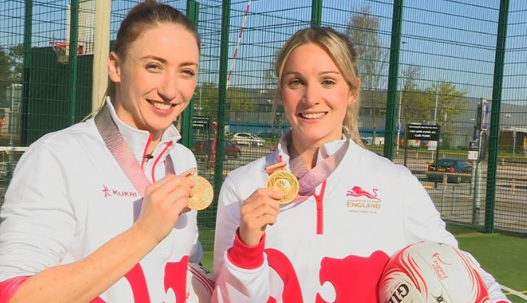 Roses stars @jadeyclarke and @nataliesymone have been named in England's Netball World Cup squad.  But how did they do in our netball challenge?  Watch http://bbc.in/2KENNOo#GetInspired @EnglandNetball