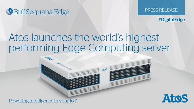 .@Atos launched last week the highest-performing #edgecomputing server worldwide, the...