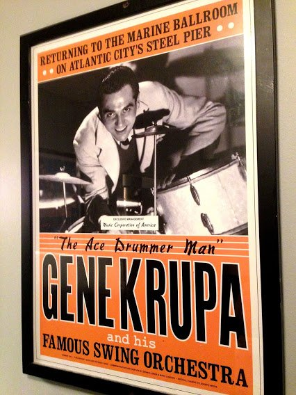 A child, I met Gene Krupa in &#39;57, when brother Al and I were playing Atlantic City&#39;s Steel Pier. I met him again over the years &amp; in &#39;72, when I played his Lincoln Ctr. concert. Gene died the next year. What a great man! He enjoys a unique space my heart.  http:// thomgambino.com/books  &nbsp;   <br>http://pic.twitter.com/1Ip2PFKKI6