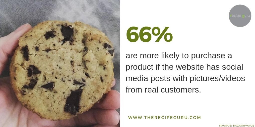 There's no shortage of free recipe inspiration available online, so encouraging customers to post photos when they try out a recipe is a powerful marketing strategy for any company that uses recipes to increase sales. #UGC #usergeneratedcontent #recipecontent