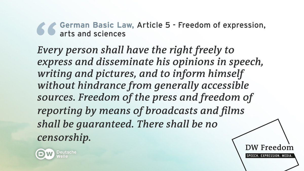 The German &quot;#Grundgesetz&quot; (Basic Law) was signed 70 years ago today. Article 5 guarantees #FreedomOfExpression and #MediaFreedom.  #Germany<br>http://pic.twitter.com/q0fZm3t4P6