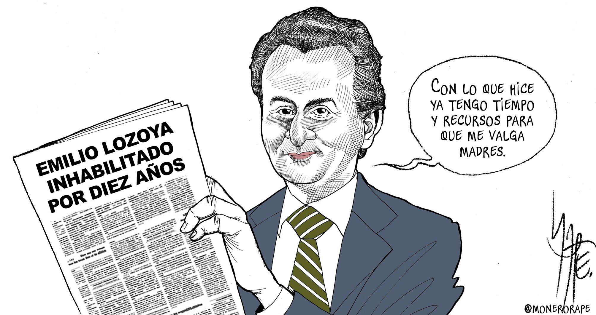 """Monero Rapé ✍🏼 on Twitter: """"Sanción de risa a Emilio Lozoya. Cartón en  @Milenio… """""""