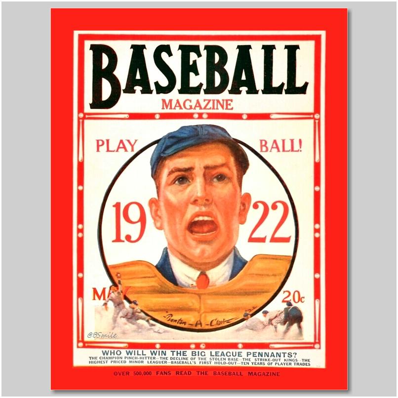 """PLAY BALL!"" - Baseball Magazine (May 1922) ""Who Will Win The Big League Pennants?"" #TBT #MLB #History"