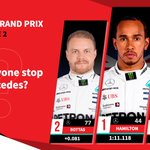 Lewis Hamilton leads a dominant @MercedesAMGF1 1-2 in FP2 #MonacoGP 🇲🇨