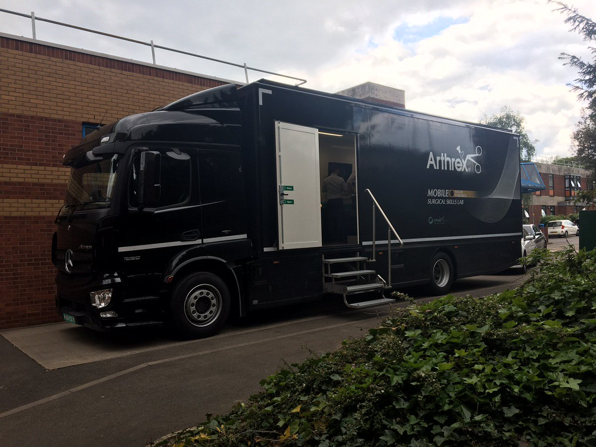Thanks to the staff and surgeons at @RotherhamNHS_FT for your enthusiasm and interaction over our 2 days here. 32 people on the #MobileLab for training and workshops on knee and shoulder arthroscopic techniques.#DiscoverArthrex