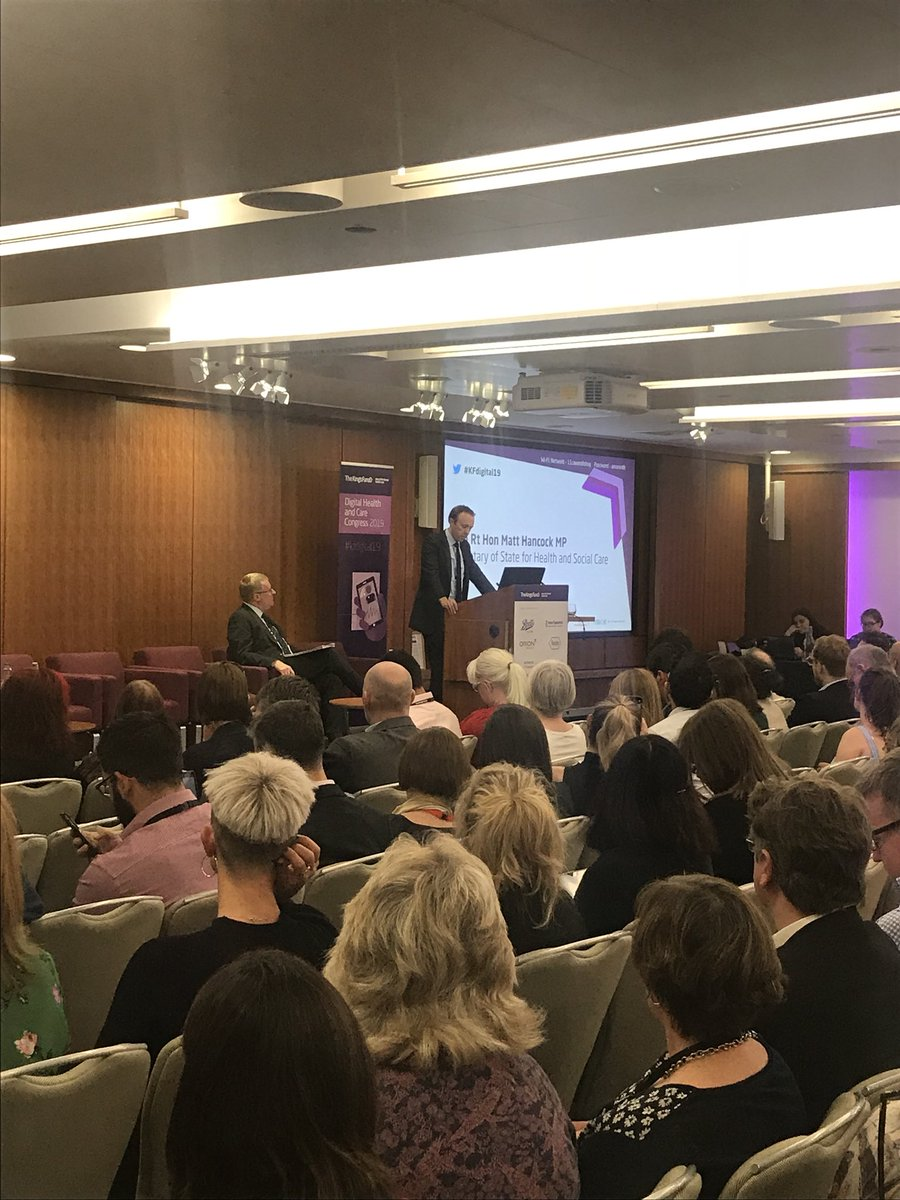 #KFdigital19 @MattHancock - breaking down barriers to interoperability is one of the most  critical challenges facing the health and care system @TheKingsFund