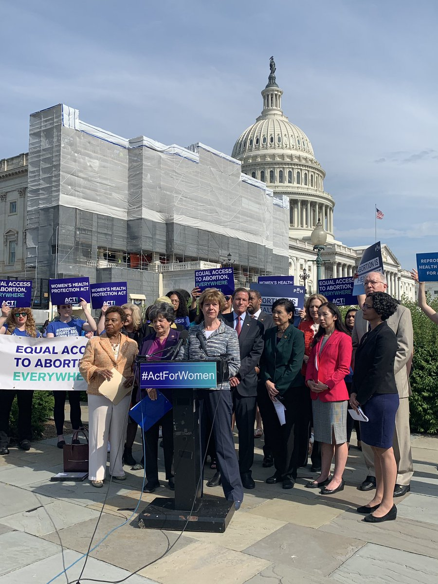#RoevWade is under attack &amp; we must fight to protect it.   Politicians may think they know better than a woman &amp; her doctor, but they don't.   Today I introduced the Women's Health Protection Act because women need the freedom to make their own health decisions. #ActforWomen<br>http://pic.twitter.com/PnG8jCfYDD