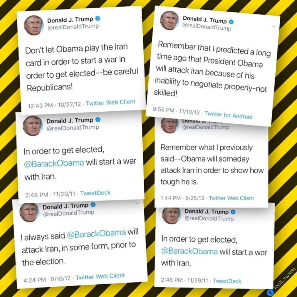 Американцы припомнили Трампу его твиты про Иран