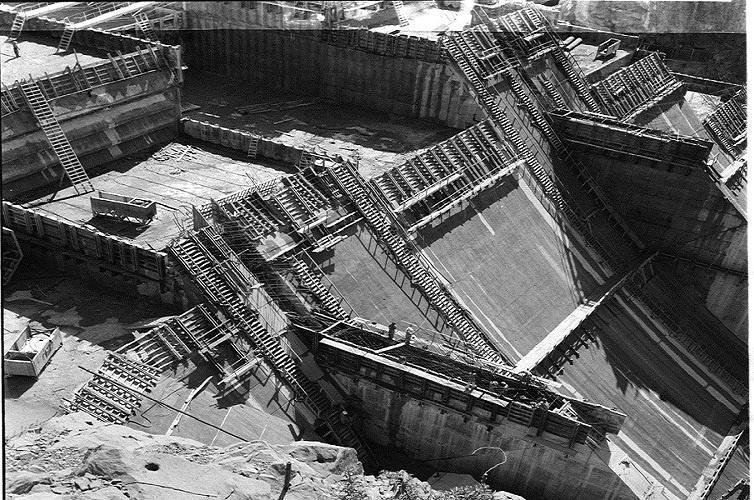 1950s :: Bhakra Nangal Dam Under Construction .  During Construction of Bhakra Nangal Dam PM Jawaharlal Nehru Said That &quot; Dams Are Temples of Modern India <br>http://pic.twitter.com/4go7HvHOon