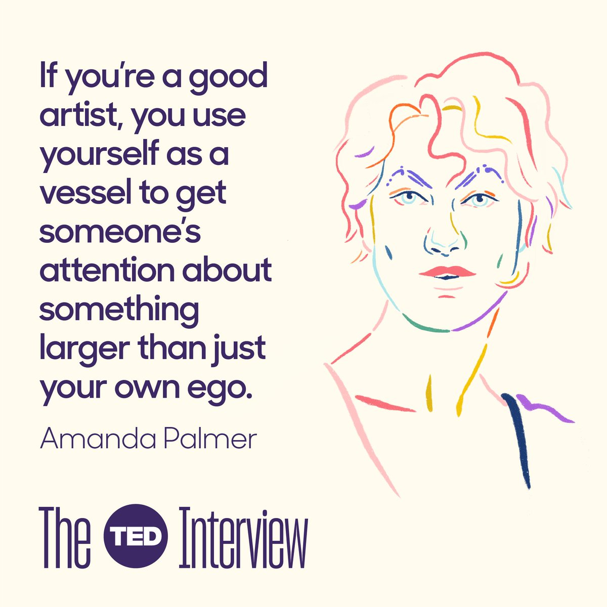 .@AmandaPalmer opens up about how she connects with her fans through her music. Learn more about one of the most unique voices in music on this week's episode of #TheTEDInterview. Listen on @Stitcher: http://t.ted.com/U9FFdUe
