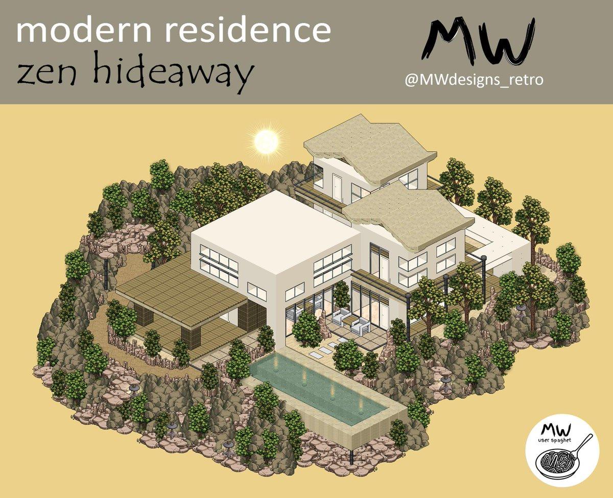 Modern Residence &#39;&#39;Zen Hideaway&#39;&#39;  Built on @Habactive_com  Construction time: 3 hours and 48 minutes  SpeedBuild -&gt;  https:// youtu.be/NU9ww7SSPMs  &nbsp;  <br>http://pic.twitter.com/2ZV9qGOhRg