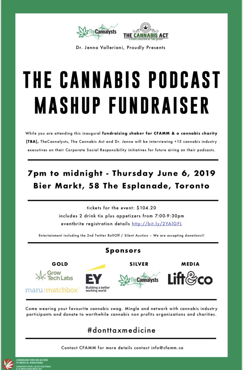 TAG A FRIEND that you would like to bring the The @thecannalysts event in #Toronto and enter to win TWO TICKETS! #joinus #contest #tagafriend #donttaxmedicine<br>http://pic.twitter.com/xsN6QC2Led