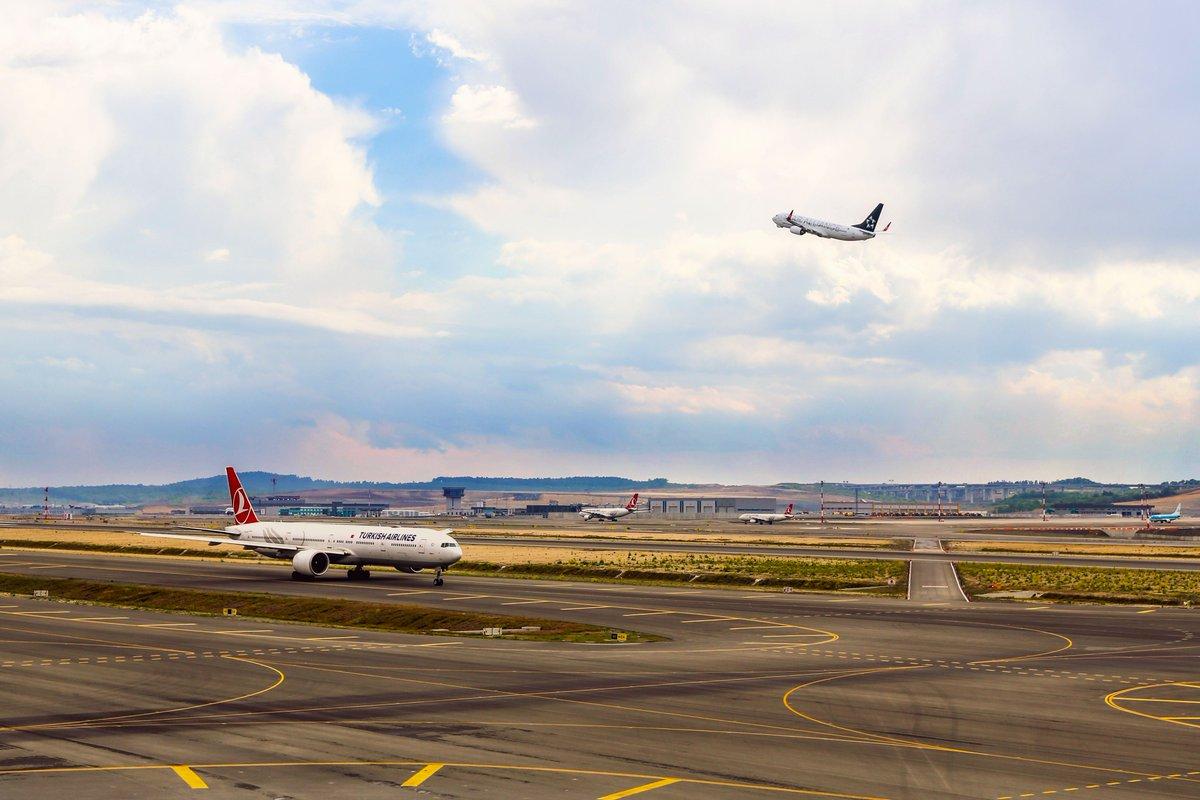 #İstanbulHavalimanı'ndan 66 hava yolu şirketi, 6 kıtada, 124 ülkeye uçuş gerçekleştiriyor! ✈ Sizin bir sonraki seyahatiniz nereye olacak?  66 airlines companies fly from #IstanbulAirport to 124 countries across 6 continents!  ✈ What is your next trip destination?