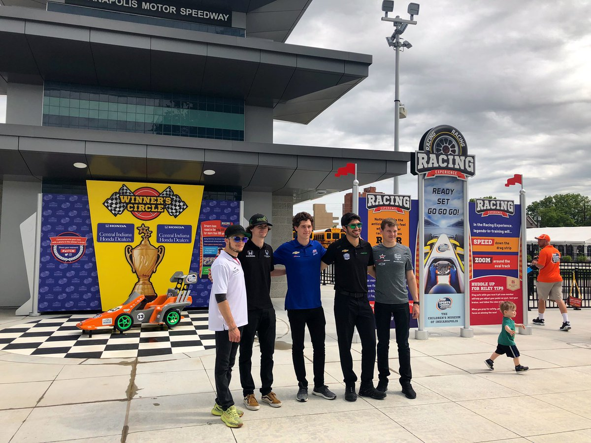 At the Children's Museum for some racing and other fun! Thank you for having us @TCMIndy ! @IndyCar | #ThisIsMay