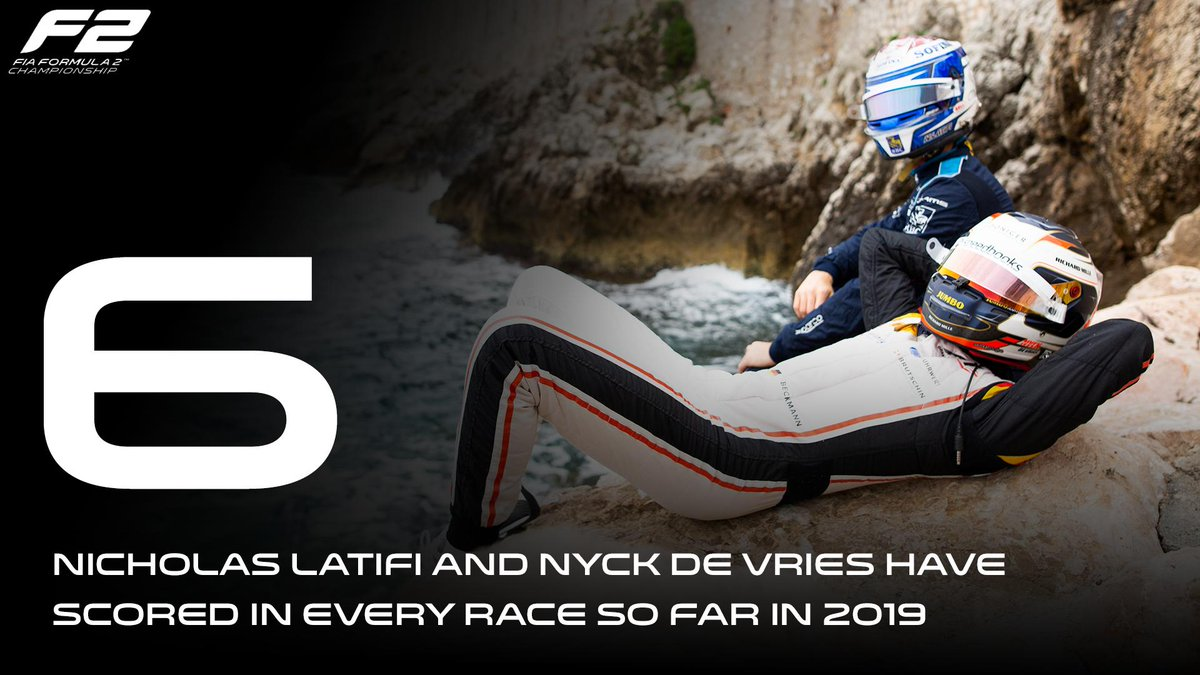 Just two drivers have scored in every race so far this season...  With pole in Monaco, Nyck de Vries has already added to his tally!  Can @NicholasLatifi and @nyckdevries continue the streak on Friday? 🤔  #MonacoGP 🇲🇨 #F2