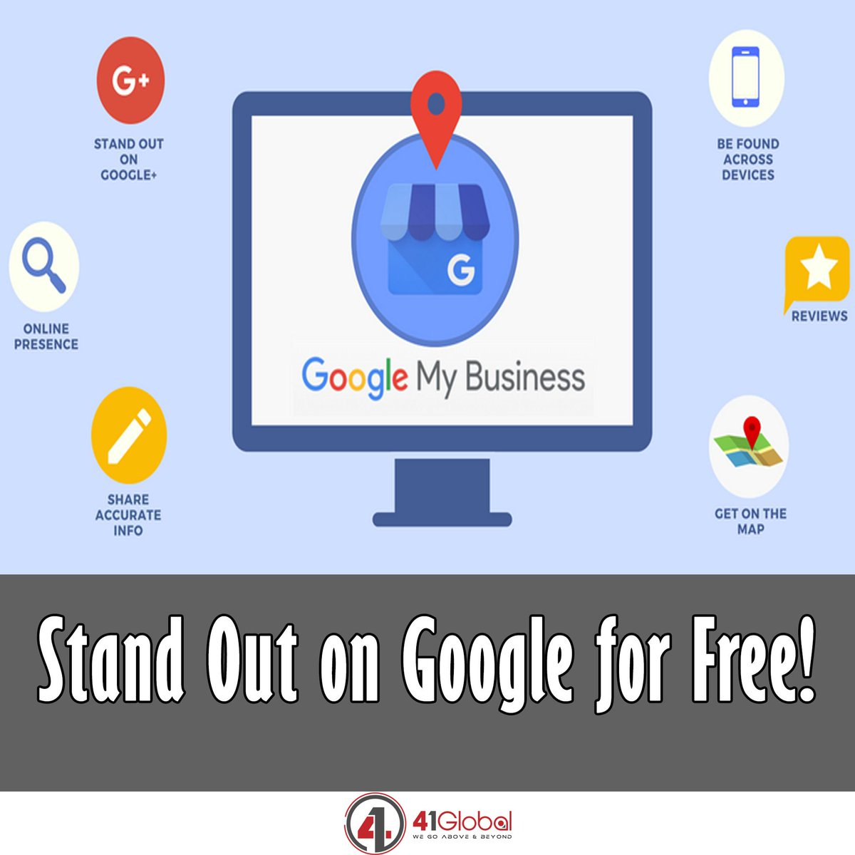 Local SEO Tip! Google My Business helps you reach and engage with local customers a lot easier and for free!  GMB does not replace your business website at all.  Google My Business complements your existing website. 😀 #41Global #website #google #localseo