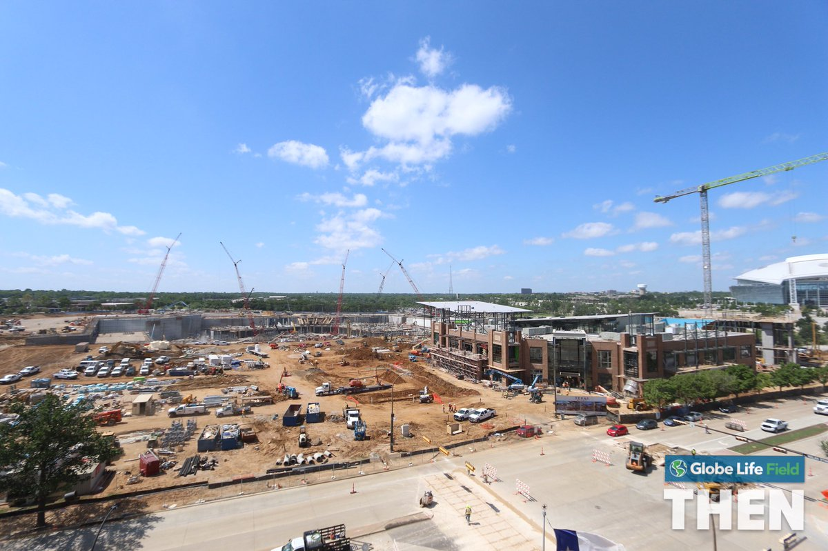 The future home of the @Rangers is growing up.   #ThrowbackThursday <br>http://pic.twitter.com/ZEKH7Fzvib