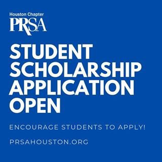 Don't forget to apply for the @PRSAHouston scholarship, too! We've got money to give to deserving students! https://www.prsafoundation.org/scholarships-awards/prsa-houston-scholarships/ … We are #PRSAHouston!