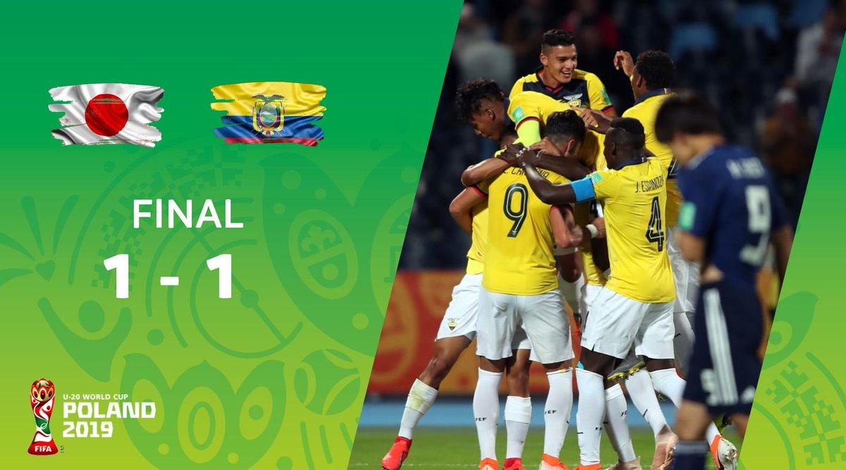 Ecuador 🇪🇨 empató 1-1 con Japón 🇯🇵 en su debut en el Mundial Sub-20 de la FIFA. #U20WC