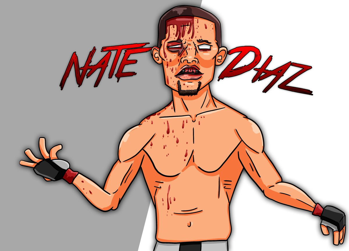 Return of one of the toughest guys in the cage @NateDiaz209 . Finally! If Nate beats Pettis then I would like to see him move back down to the lightweight division and restart the momentum that began with the Johnson fight. #natediaz #ufc #stocktonslap