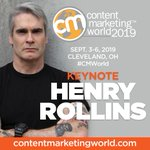 Musician, radio host, actor, photographer: @HenryRollins is a master storyteller. In September, he's bringing his legendary intensity to the Content Marketing World stage! #CMWorld https://t.co/S0vOvvsf31