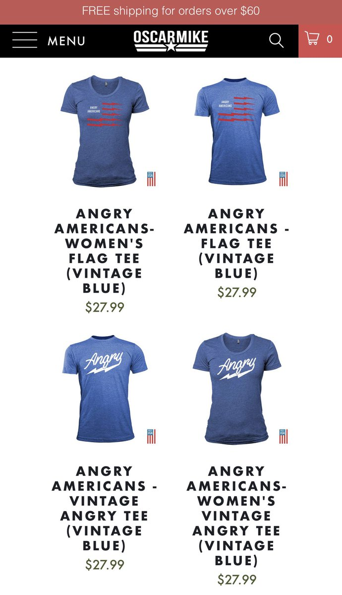 ⚡️New episode today, new designs today! We've now got sweet new #AngryAmericans shirts in vintage blue (and asphalt). And red is coming soon. Made in the USA by vets st @WeAreOscarMike. Get em now for #FathersDay: https://www.angryamericans.us/merch/   ⚡️🇺🇸