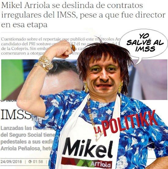 ►ya habló doña margara @MikelArriolaP dice que el salvó al #IMSS 😂😂 #Oposiciónde5ta #EducaAunFifí  #fifielqueseRaje   #FelizJueves #DíaDelEstudiante #EsMuyOdioso #RedAMLOVE  #RedAMLO #RedAMLOvers  #TeamAMLO