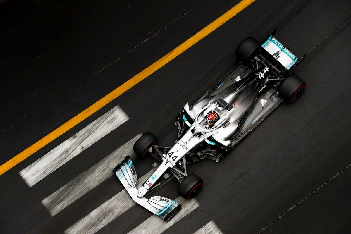 Back to those Monaco streets 💪 Lewis tops the timesheets on Thursday 👉 http://mb4.me/Wq1EjSQo #MonacoGP