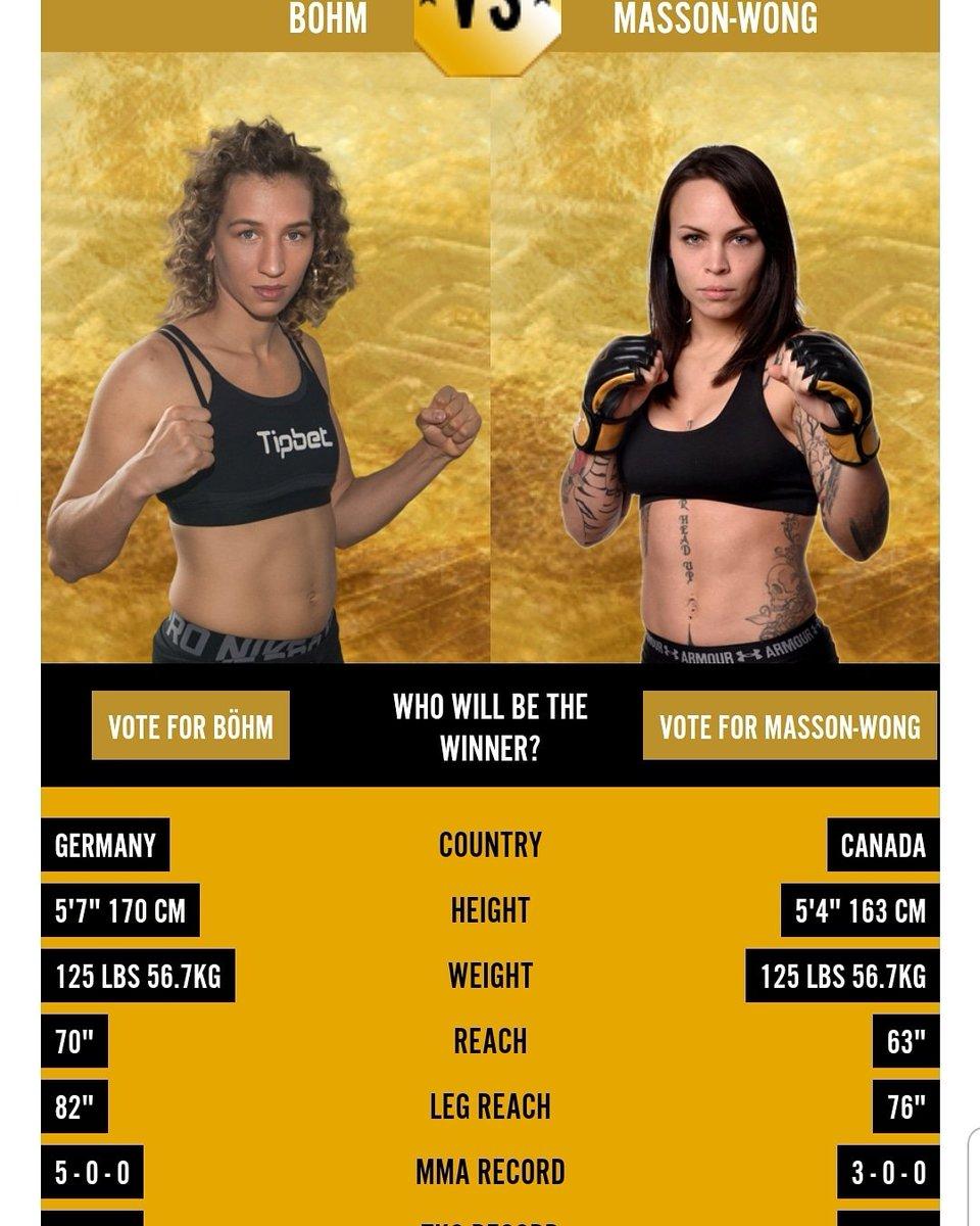 #TKO48 Mandy Bohm (124.4) et Jade Masson-Wong (135) respectent le poids en vue du combat pour le titre inaugural chez les 125 lbs qui aura lieu ce samedi à Gatineau