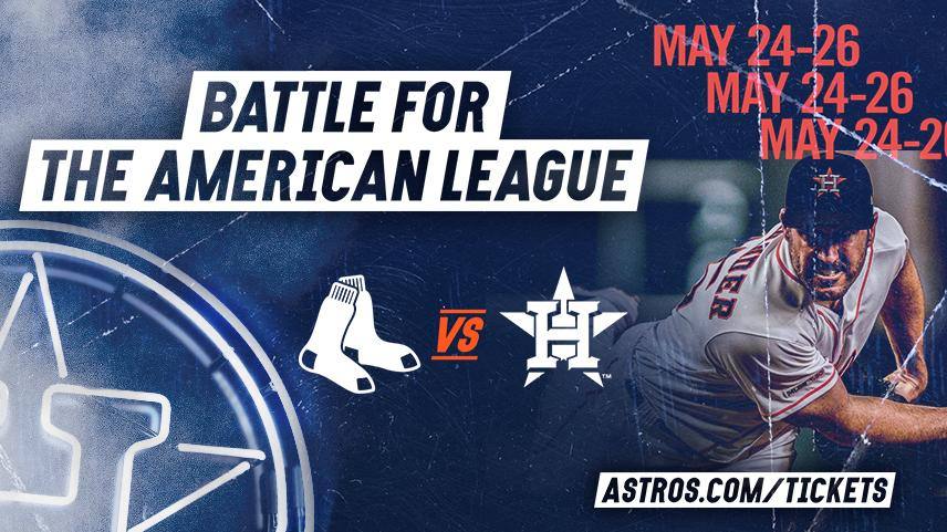 The season series against the Red Sox continues tomorrow...Bring the noise: http://Astros.com/Tickets