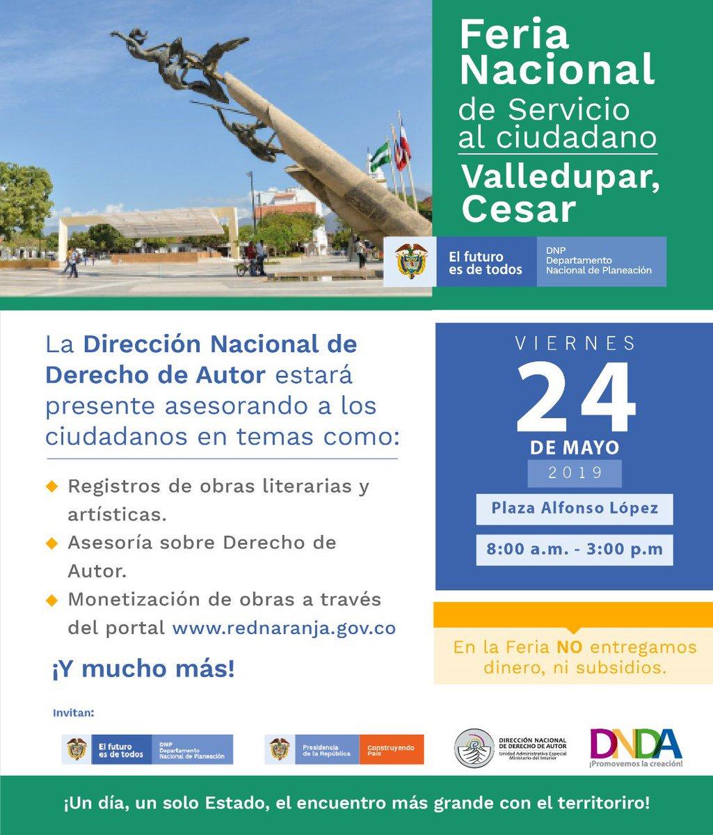 #Cesarences de 19 mpios han utilizado el registro en línea d #DerechoDeAutor: #Valledupar #Codazzi #Aguachica #Curumani #Pelaya #Chiriguana #RioDeOro #ElPaso #LaPaz #LaGloria #Astrea #Bosconia #LaJagua #LaLoma #Pailitas #Manaure #SanAlberto #Chimichagua #ElCopey #ConstruyendoPaís