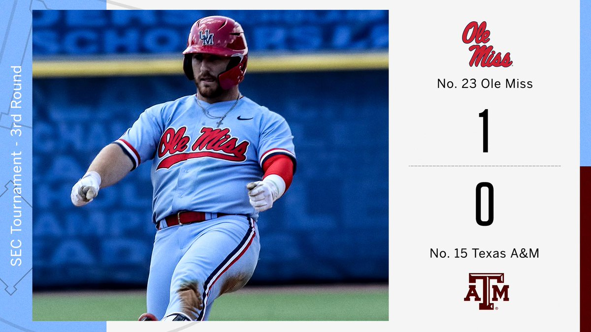 Rebs win it in the 9th! @OleMissBSB throws its 4th shutout in SEC Tournament history.