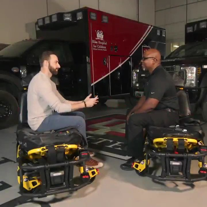 In partnership with @IU_Health , I sat down with Kevin King, Paramedic and Shift Ops Supervisor, to talk about the skill he brings to his job. It was an honor to thank him for his 20+ years of service.