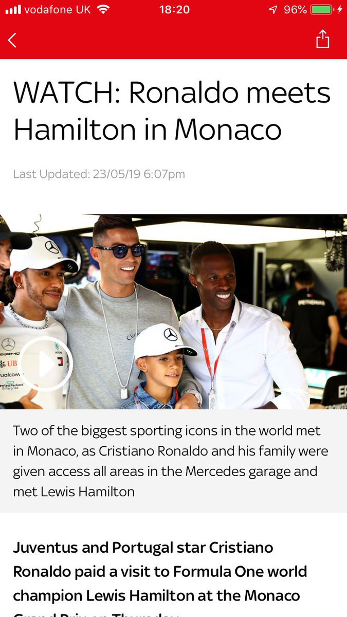 Sky sports F1 surely have this headline wrong.   Reads as follows Hamilton meets @JVSemedo and family 😉😉  #swfc #F1 #Monaco #cr9 #Mercedes #MercedesAMGF1