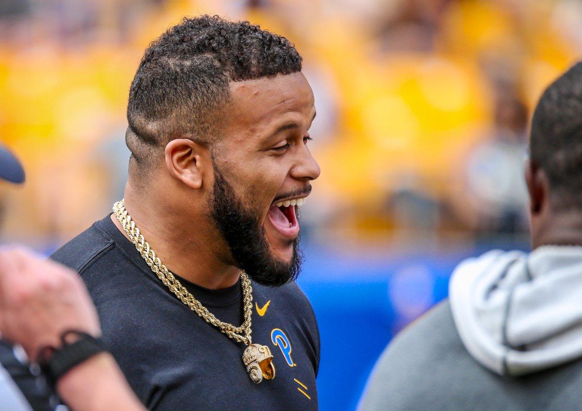 Proud Pitt Man  Best Defensive Player in NFL  Happy Birthday, Aaron Donald!   #H2P<br>http://pic.twitter.com/T0Nmcank3X