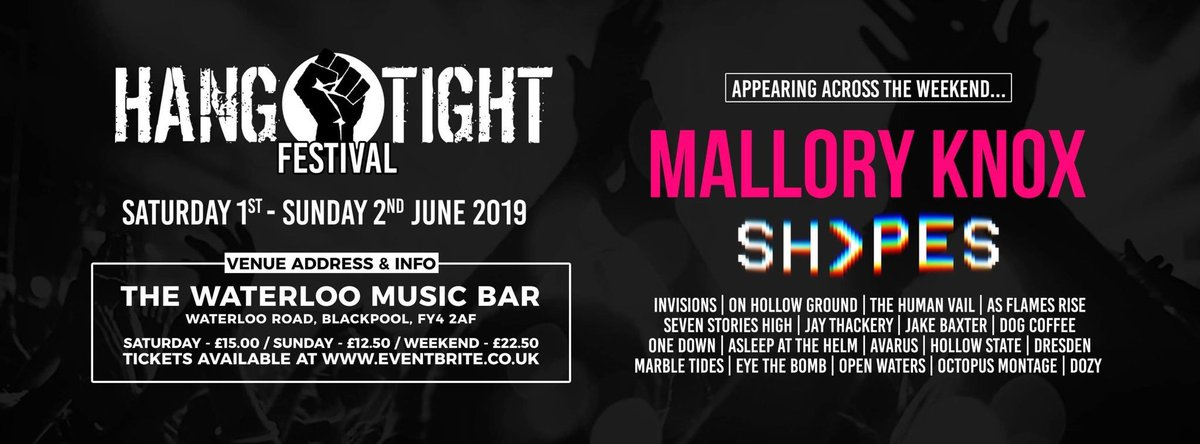 On June 1st & 2nd a bunch of bands are coming to Blackpool to play Hang Tight Festival. A great line up & 2 full days of music, support our scene. Or help us build one or something?